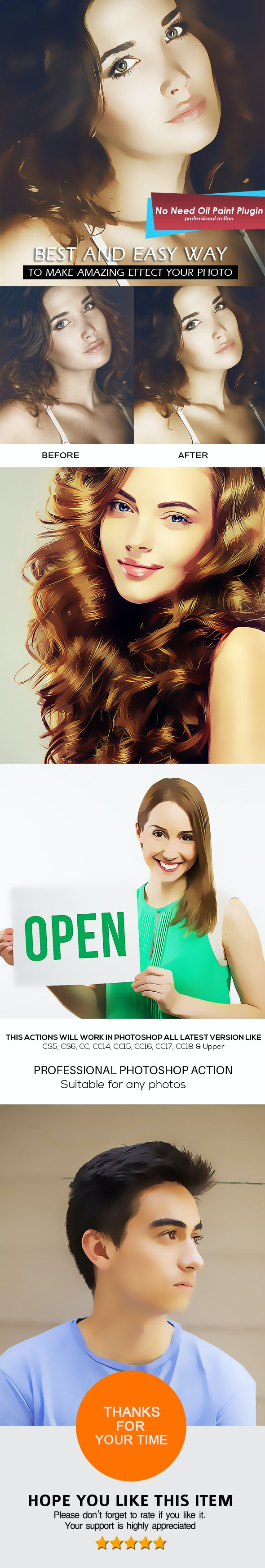 Vector Cartoon Painting Photoshop Action