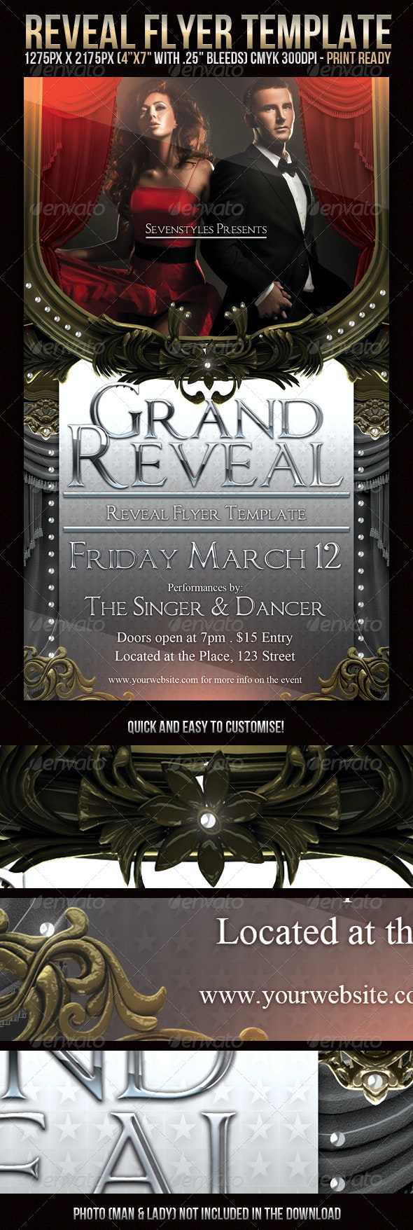 Reveal Flyer Template - Clubs & Parties Events