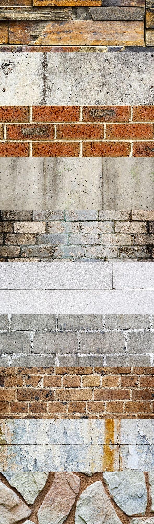 10 Brick And Stone Texture Backgrounds Pack - Stone Textures