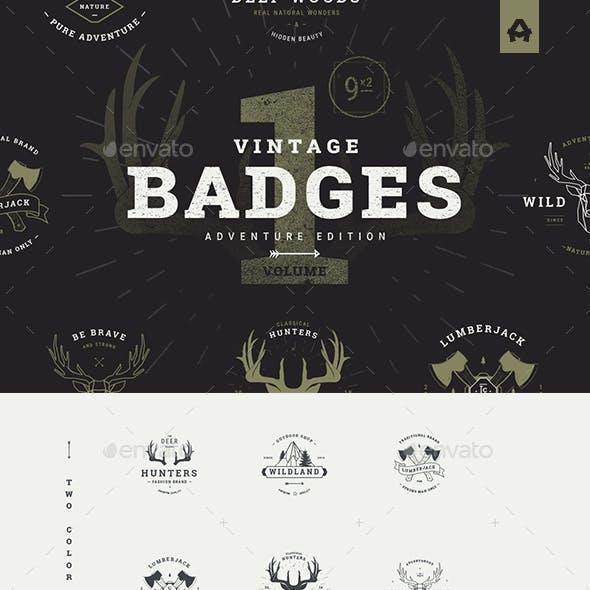 Vintage Badges vol 1