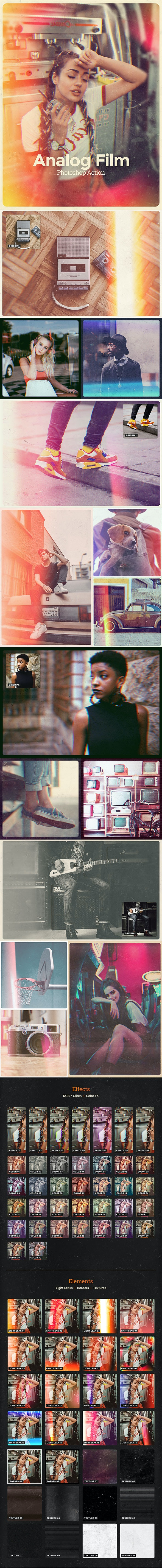 Analog Film Photoshop Action - Photo Effects Actions