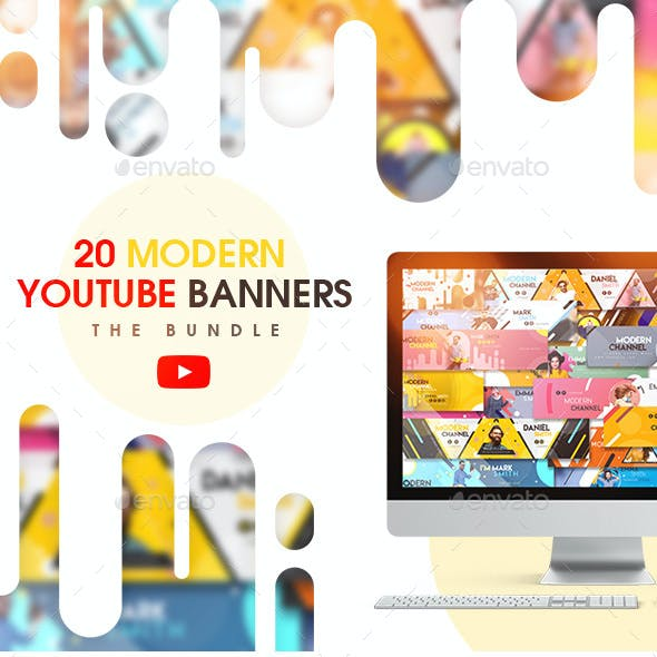 YouTube Bundle - 20 Modern Banners