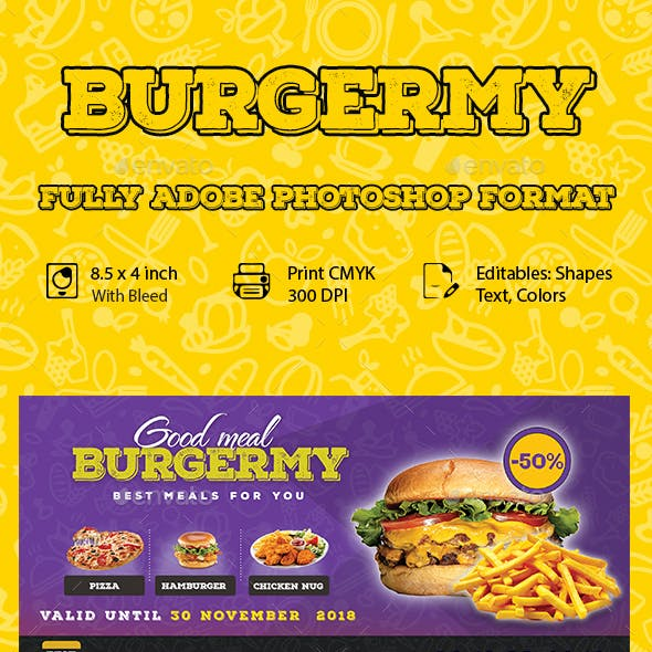 Restaurant Fast Food flyer Template