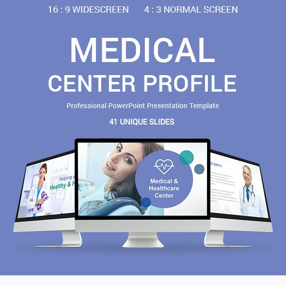 Medical Center Profile PowerPoint Presentation Template Designs