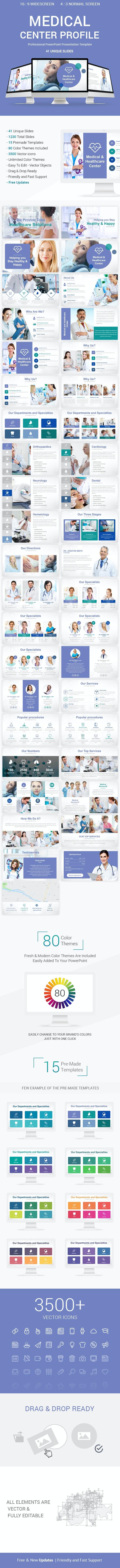 Medical Center Profile PowerPoint Presentation Template Designs - Creative PowerPoint Templates