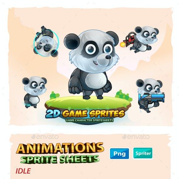 Panda 2D Game Character Sprites Sheets