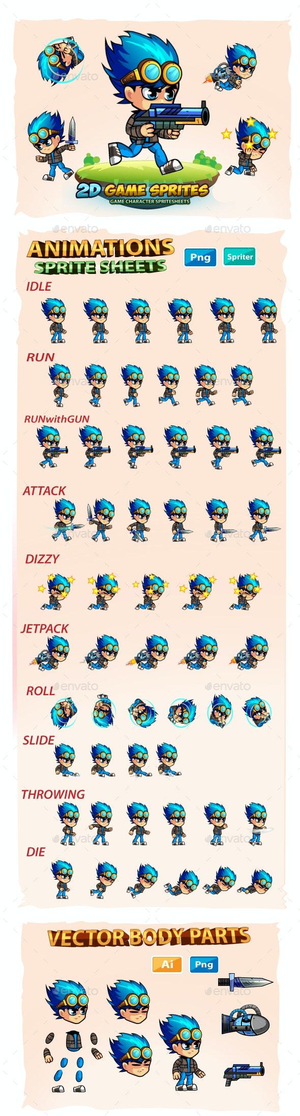 2D- Game Character Sprites - Sprites Game Assets