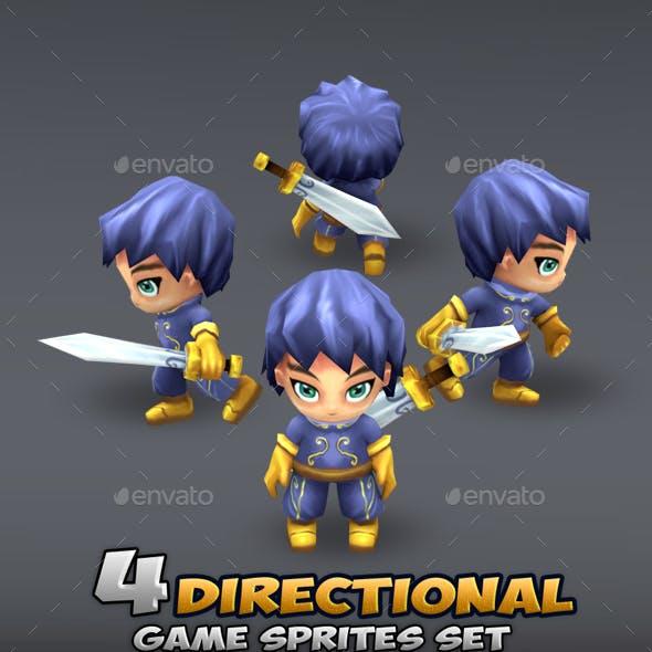 4- Directional Game Sprites Set