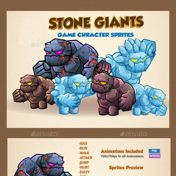 Stone Giants Game Character Sprites
