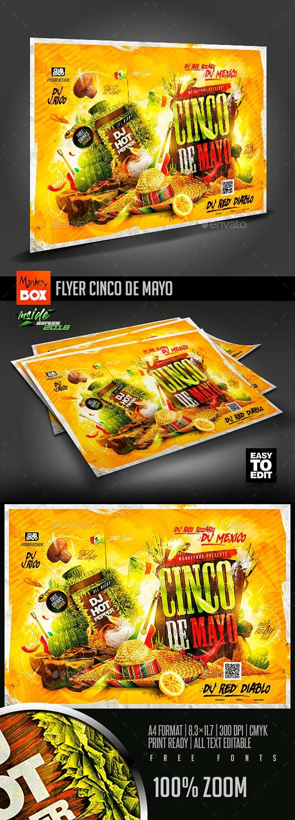 Flyer Cinco de Mayo - Flyers Print Templates