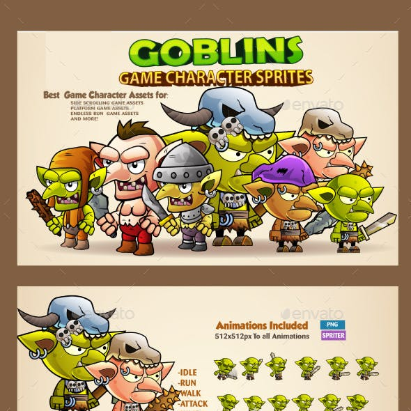 7 Goblins Game Character Sprites
