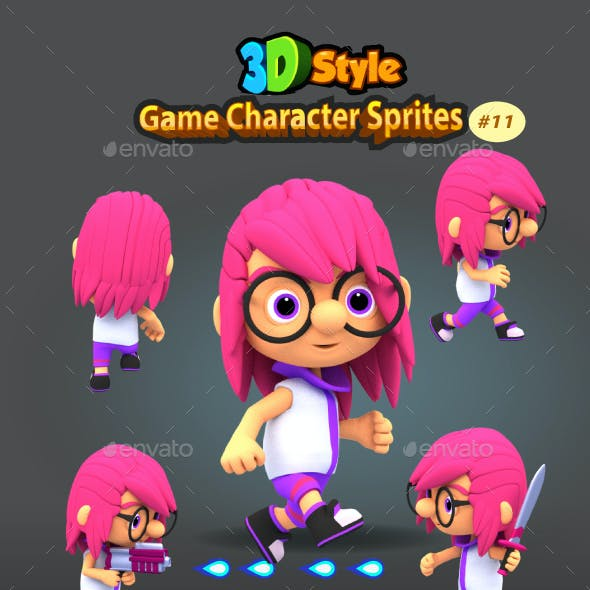 3D Rendered Game Character Sprites 11