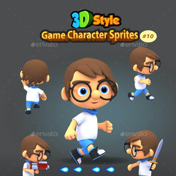 3D Rendered Game Character Sprites 10