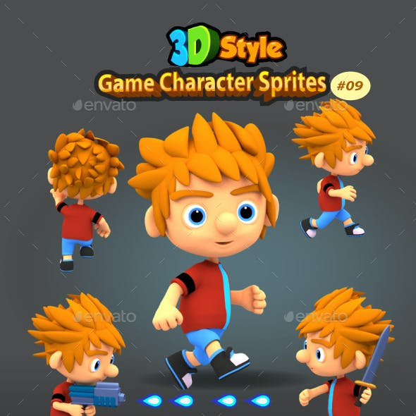 3DRendered Game Character Sprites 09