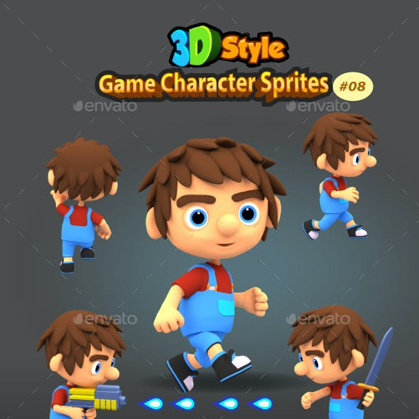 3D Rendered Game Character Sprites 08