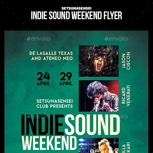 Indie Sound Weekend Flyer
