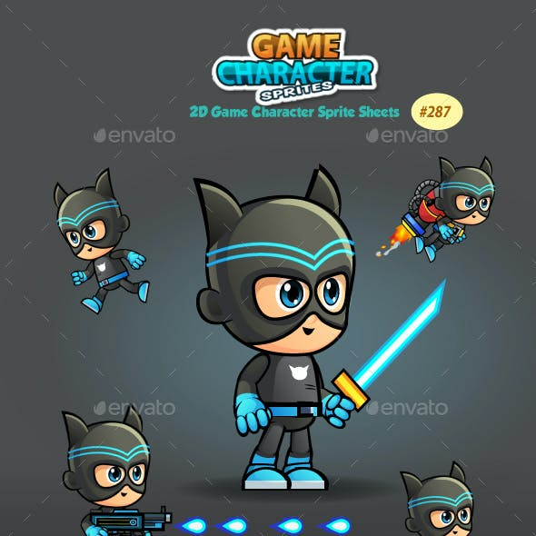 Super Hero 2D Game Character Sprites 287