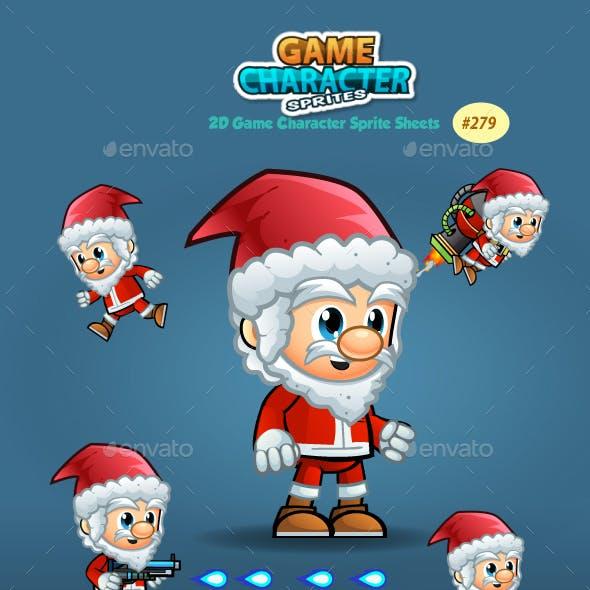 Santa 2D Game Character Sprites 279