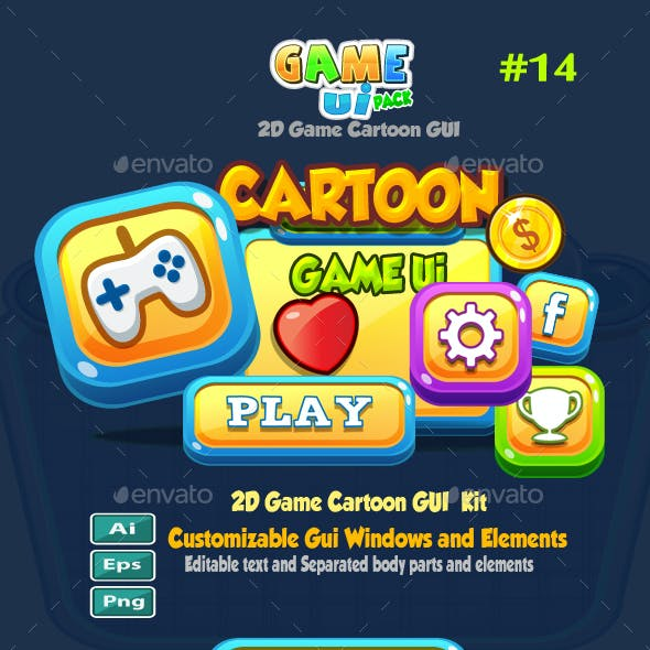 Cartoon Game UI Pack 14