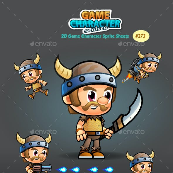 Viking 2D Game Character Sprites 273