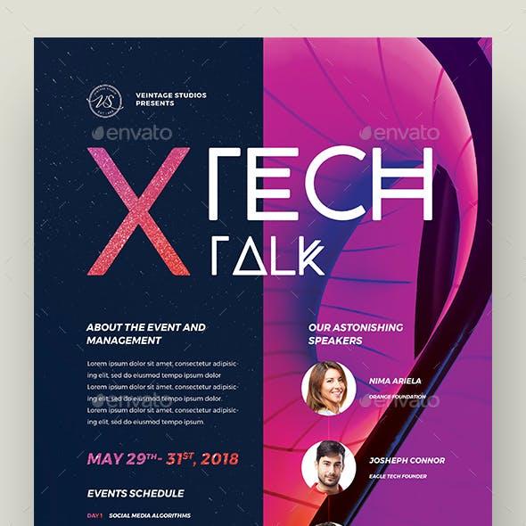 Tech Talk Event Flyer