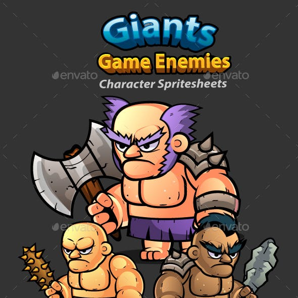 Giants 2D Game Character Sprites 259