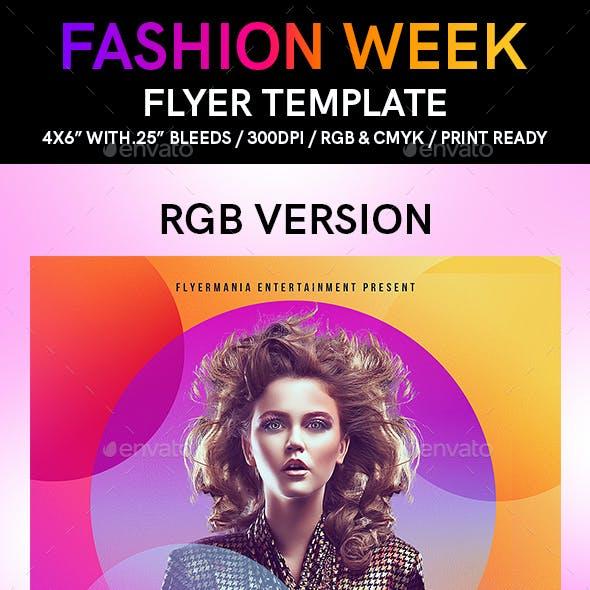 Fashion Week Flyer Template