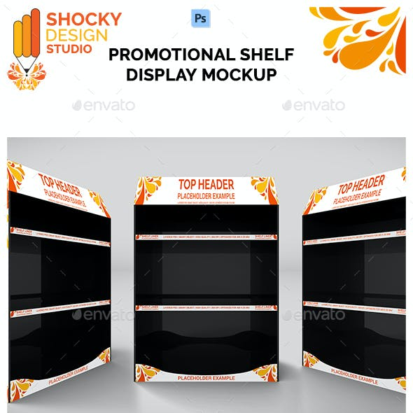 Promotional Shelf Display Mockup