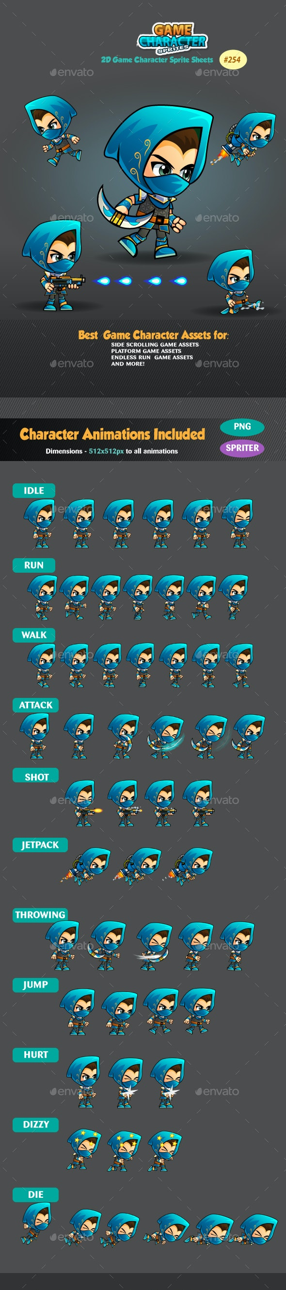Assassin 2 Game Character Sprites 254 - Sprites Game Assets