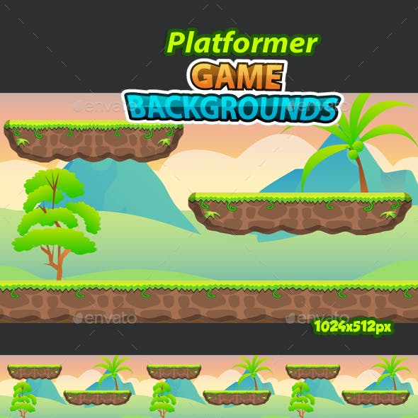 Platformer Game Background 17