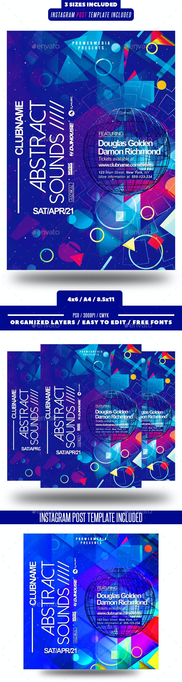 Abstract Colorful Party Flyer - Clubs & Parties Events