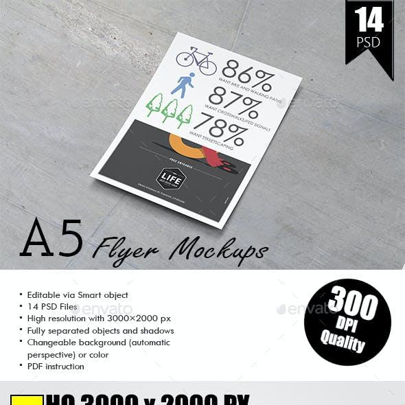A5 Flyer / Poster Mock-Up