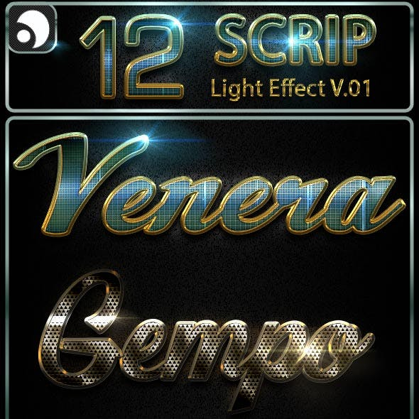 12 Scrip Light Text Effect