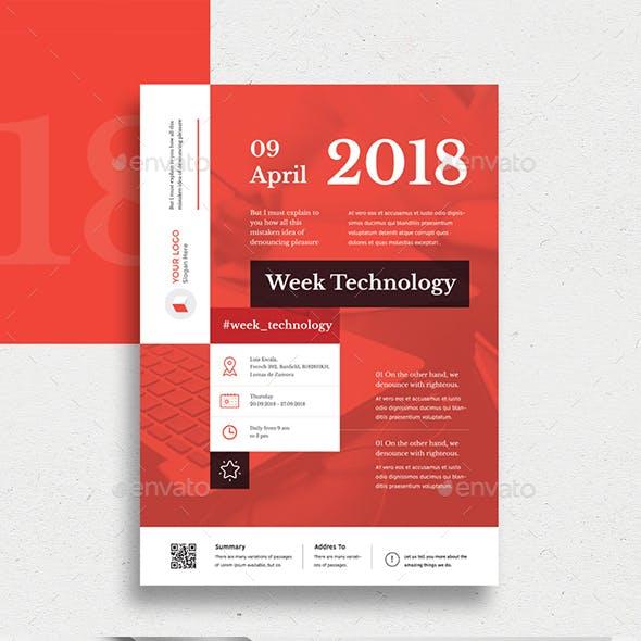 Week Technology Flyer Template