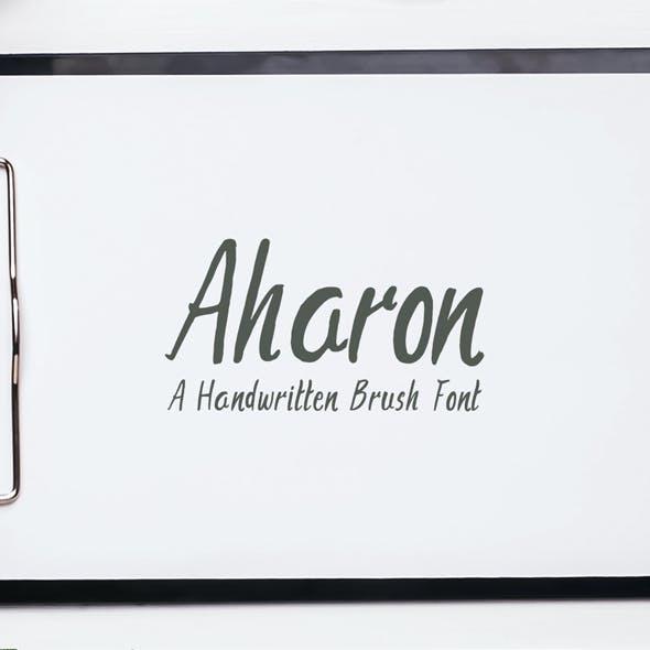 Aharon Handwritten Brush Font