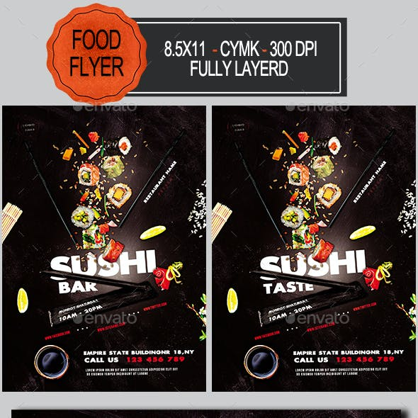 Sushi Promotion Flyer Template