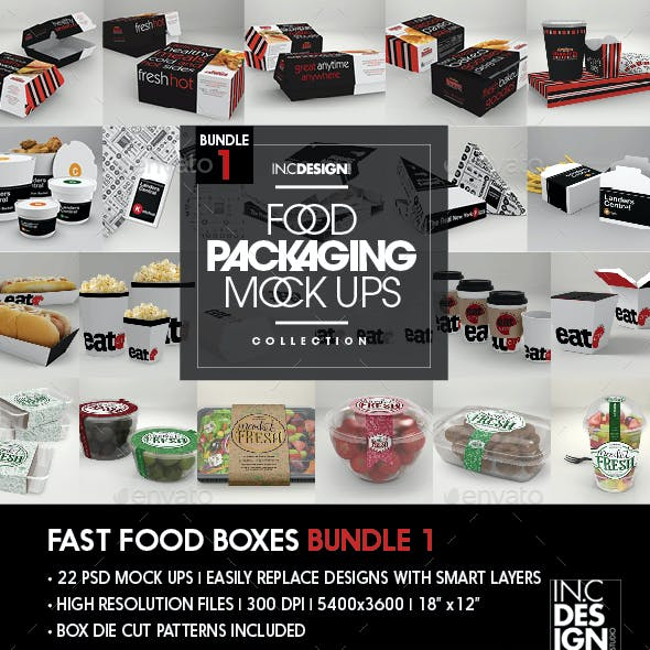 Fast Food Boxes Bundle
