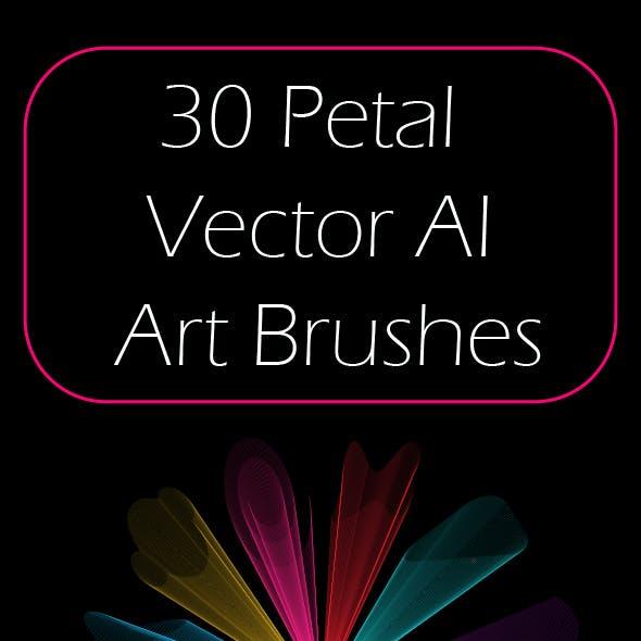 30 Transparent Openwork Petal Adobe Illustrator Art Brushes