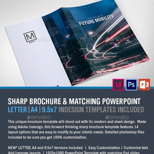 Sharp Modern Brochure and PowerPoint