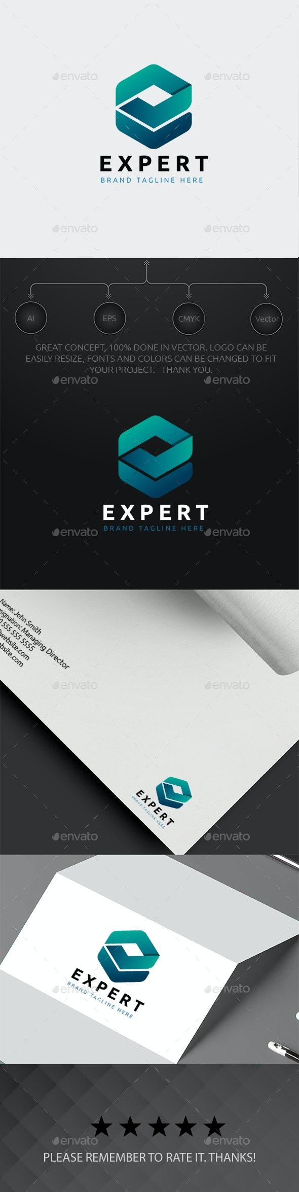 E Cubical Logo - Letters Logo Templates