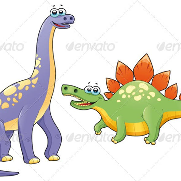 Couple of funny dinosaurs.