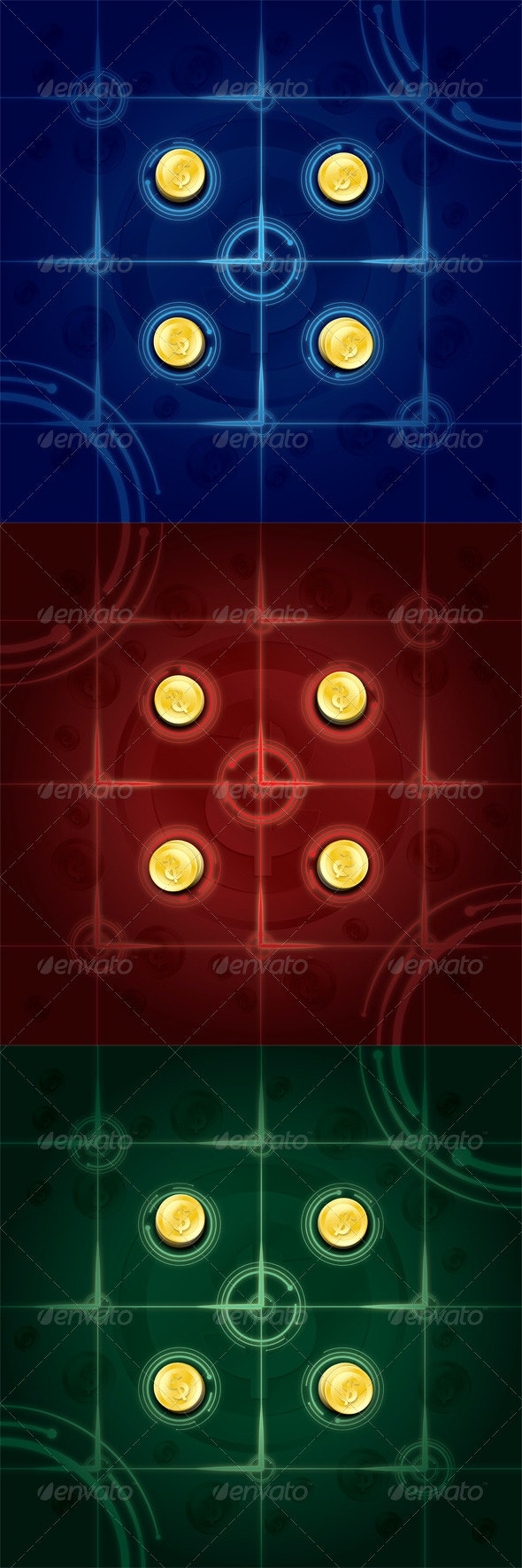 Coin Backgrounds - Backgrounds Decorative