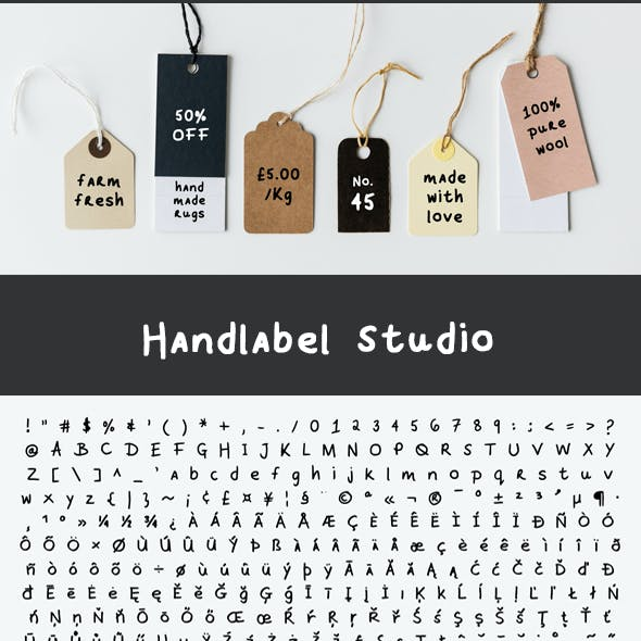 Hand Label Marker Font
