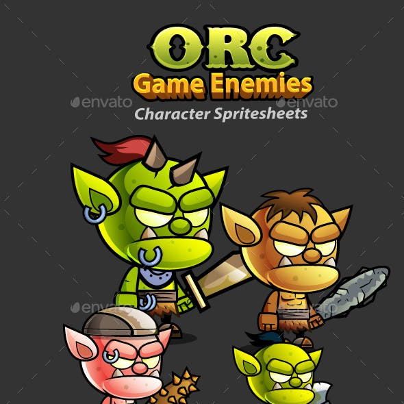 Orcs 2D Game Character Sprites 240