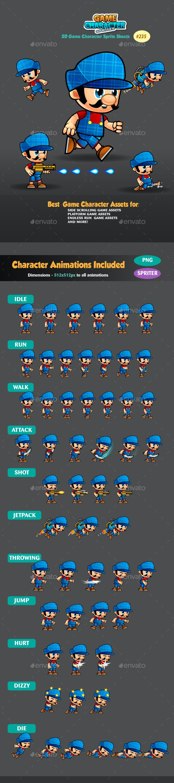 2D Game Character Sprites 235 - Sprites Game Assets