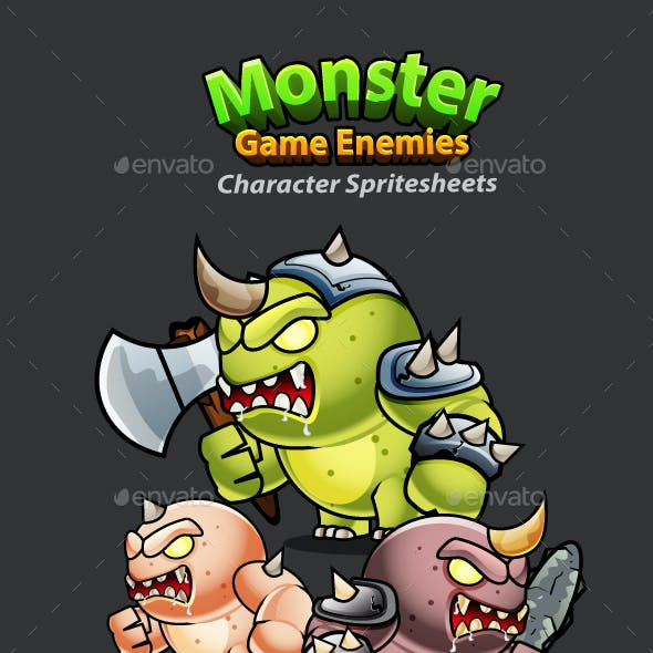 Monster Game Enemies Character Sprites 234