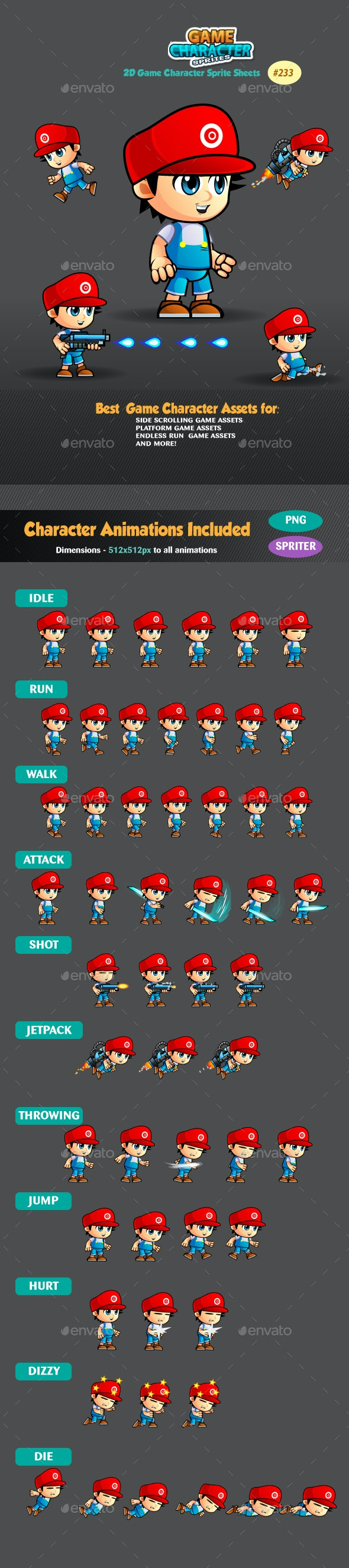 2D Game Character Sprites 233 - Sprites Game Assets