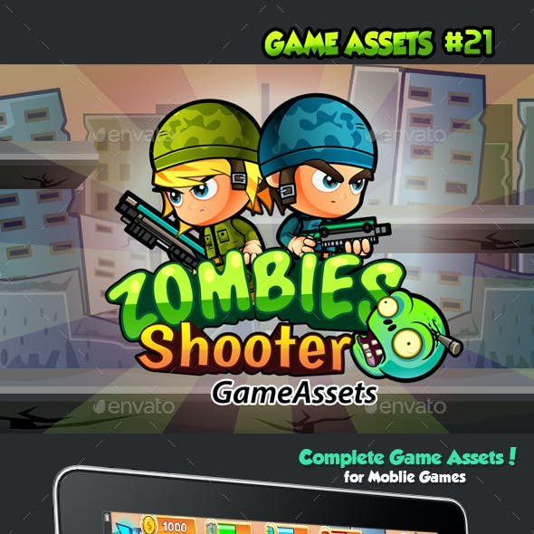 Zombie Shooter Platformer Game Assets 21