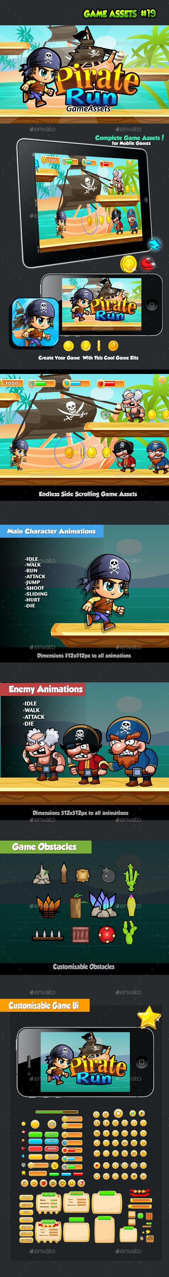 Pirate Run Platformer Game Assets 19 - Game Kits Game Assets