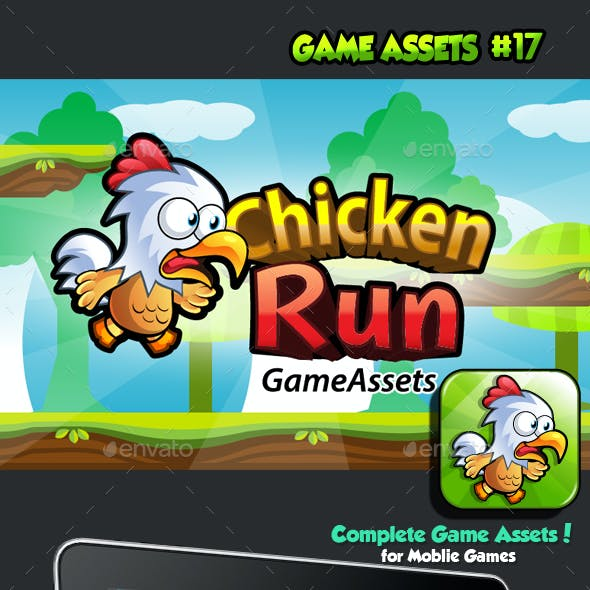 Chicken Run Platformer Game Assets 17